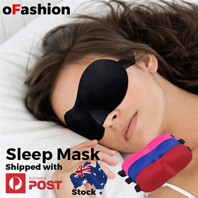 AU6.95 • Buy Travel Sleep Eye Mask Soft 3D Memory Foam Padded Shade Cover Sleeping Blindfold