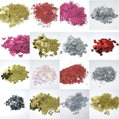 £1.45 • Buy Wedding Table Confetti Sprinkle Party Decoration Foil Hearts Butterflies Stars