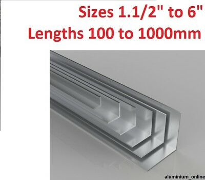 £8.67 • Buy ALUMINIUM EQUAL ANGLE 1.1/2  1.3/4  2  2.1/2  3  4  6  Inch Lengths To 1000mm