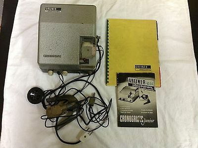 $ CDN1432.60 • Buy Used - Vintage Greiner Electronic Chronografic Machine Tools Watchmaker Watches