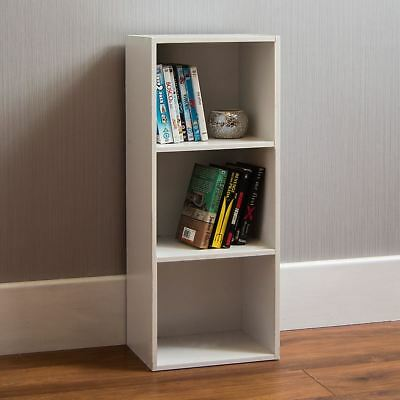 £19.99 • Buy Oxford 3 Tier Cube Bookcase Display Shelving Storage Unit Wooden Stand White New