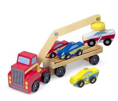 Melissa & Doug Magnetic Car Loader - Wooden Transporter Toy 19390 • 15.95£