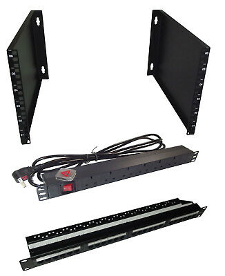 £50 • Buy 6U 400mm Deep 19  Rack Wall Mounted Bracket + PATCH PANEL & PDU - Cheap Cabinet!