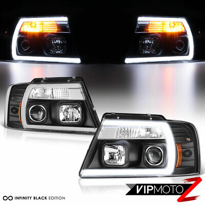 $224.03 • Buy 04-08 Ford F150 Fiber Optic Neon Tube U-Bar C-Shape LED DRL Projector Headlight