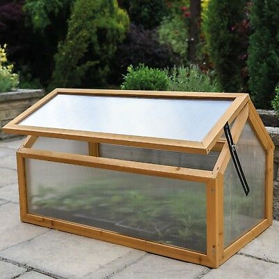 £49.99 • Buy Garden Grow Polycarbonate Wooden Cold Frame Greenhouse Outdoor Planting Shelter