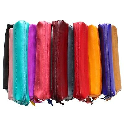$16.99 • Buy Genuine Eel Skin Leather Small Pouch Wallet Pencil Case Pencil Box Cosmetic Case