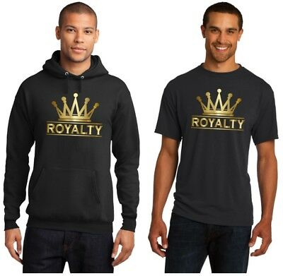 $22.99 • Buy Gold Crown Royalty On Black Men T-Shirt Or Hoodie Match Air Jordan Retro 4 Shoes
