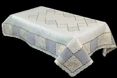 $45 • Buy 72x144  Large Rectangle Embroidered Lace Tablecloth 12 Napkin Banquet Wedding