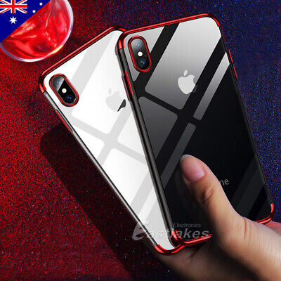 AU5.99 • Buy IPhone XS MAX XR X 11 Pro Shockproof Case Soft Gel Bumper Clear Cover For Apple