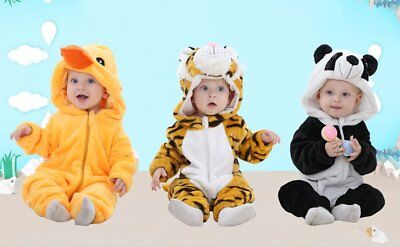 Idgirl Unisex Baby Rompa Outfit Jumpsuit Costume Tiger Duck Panda 6mth 12mth 2yr • 11.99£