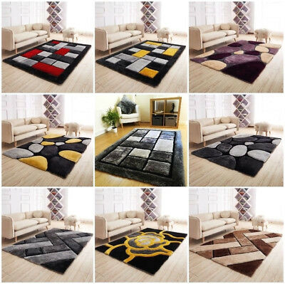 New Luxurious High Pile Rugs Modern Soft Silky Contemporary Thick Quality Shaggy • 79.95£
