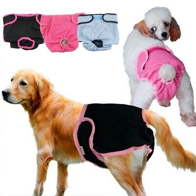 Female Pet Dog Pants Bitch Heat In Season Menstrual Sanitary Nappy Diaper S-XL • 6.99£