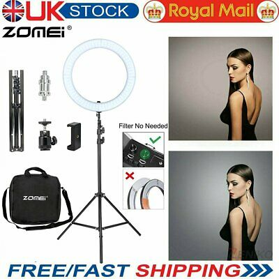 Zomei 18  Dimmable LED Ring Light Flashes Light Stand Kit For Photo Video Camera • 69£