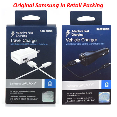 $ CDN9.04 • Buy Samsung Original Adaptive Fast Car / Home Charger For Galaxy S7 Edge Plus S6 S7