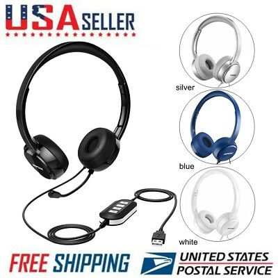 Mpow 071 USB Headset  3.5mm Computer Headset With Microphone Noise  Cancelling US • 23.01 0b7cf24373
