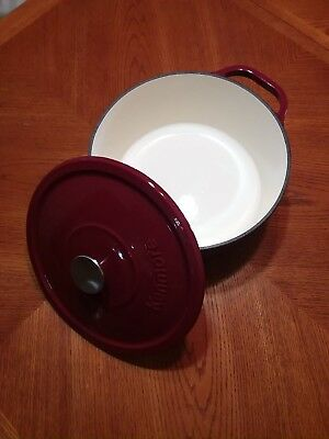 $ CDN114.17 • Buy New 7-Quart Round Red Enameled Cast Iron Dutch Oven By Kenmore With Lid