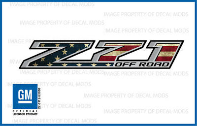 AU24.51 • Buy Z71 Off Road Decals Stickers 2014 2015 2016 2017 2018 American Flag Worn FWFLAG