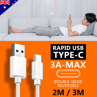 AU6.99 • Buy Rapid Charging USB Type C Cable Charger For Samsung S20 S10 S9 Ultra Note 20 10