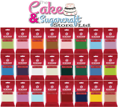 Renshaw Icing 250g, 500g, 750g, 1kg, 2kg - All Colours Sugarpaste Cake Free Post • 3.55£