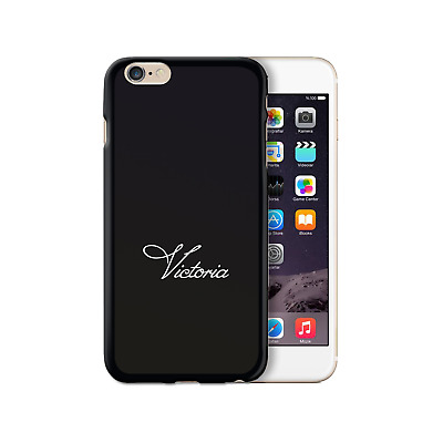 AU13.02 • Buy Hairyworm Personalised White Scroll Font Name On Black Silicone Gel Phone Case