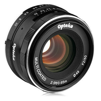 $ CDN80.34 • Buy Opteka 50mm F/2.0 Lens For Sony A6500 A6300 A6000 A5100 A5000 A3000 NEX-6 5N