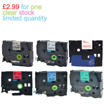 Multipack COMPATIBLE LABEL TAPE Fits BROTHER, 12mm,18mm Fits P-TOUCH GL- Printer • 2.99£