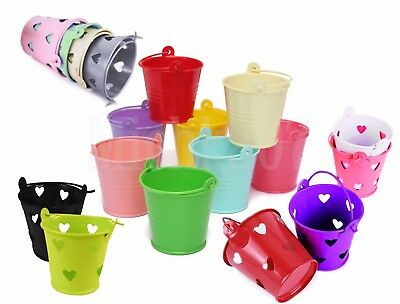 £2.49 • Buy Mini Metal Pails Buckets 55mm Tall Wedding Party Christening Favour Gift
