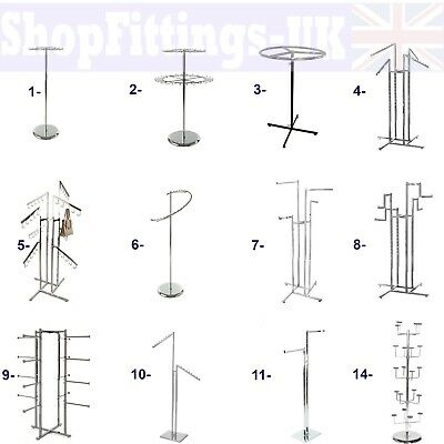 £9.89 • Buy Professional Heavy Duty Clothing Retail Display Stands Garment Dress Shop Rails