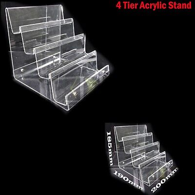 £43.99 • Buy Large  4-tier Clear Strong Acrylic Purse Retail Fashion Shop Display Stand