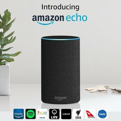 AU179 • Buy Introducing Amazon Echo (2nd Generation), Charcoal Fabric