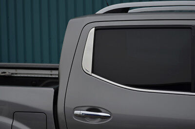 £26.95 • Buy Chrome Rear Window Trim Accent Cover To Fit Nissan Navara NP300 (2015+)