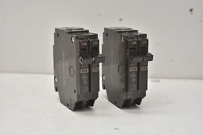 General Electric THQP250 Q-Line 50AMP 1  Double Pole Circuit Breaker Lot Of 2 • 14.43£