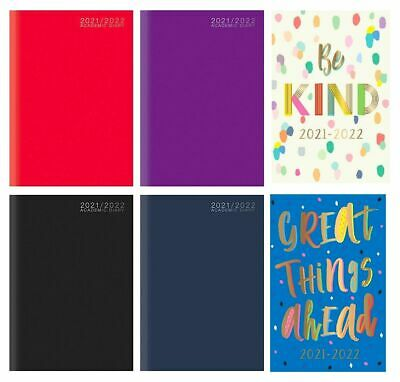 £3.25 • Buy 2021-2022 Academic Diary A5 Week To View Hardback Mid Year Student Teacher Diary