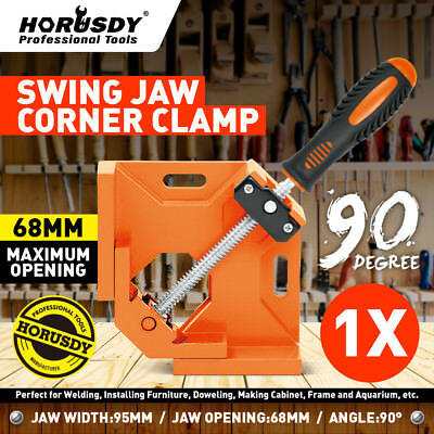 $14.99 • Buy 90°Right Angle Clamp Adjustable Corner Vise For Wood-working Engineering Welding