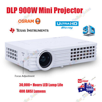 AU499.99 • Buy 7000 Lumens DLP 3D Android Projector WIFI Miracast 1080P Home Cinema Multimedia