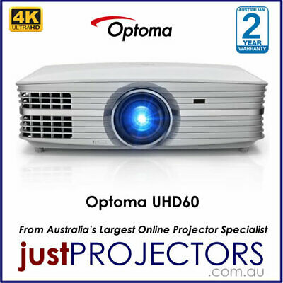 AU3570 • Buy Optoma UHD60 4K Home Theatre Projector From Just Projectors Australia. 3YR WRNTY