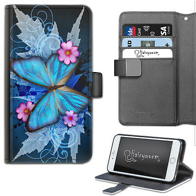 AU21.65 • Buy Butterfly Phone Case, Pink Flower PU Leather Flip Phone Cover With TPU Insert