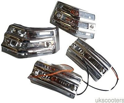 Ukscooters VESPA PX 125 150 200 LML T5 GRILL CLEAR LENS CHROME INDICATORS CUSTOM • 36.50£