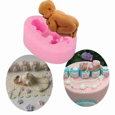 £5.47 • Buy BABY Silicone Fondant Cake Topper Mold Mould Chocolate Candy Baking Babyshower