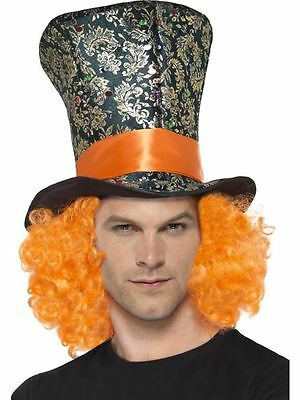 £7.95 • Buy  Mad Hatter Orange Hair Top Hat, Adult Fancy Dress Costume Accessory