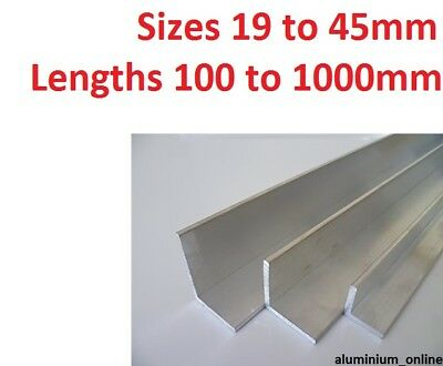 £9.10 • Buy ALUMINIUM ANGLE UNEQUAL 19mm 25mm 32mm 38mm 45mm L Profile Select Size & Length