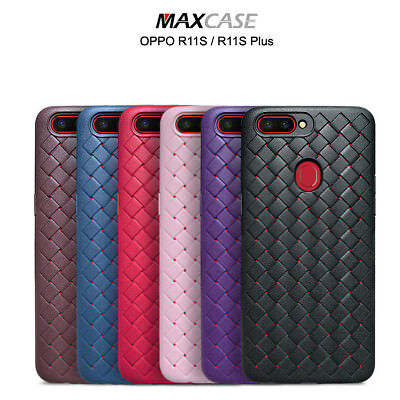 AU7.99 • Buy For OPPO R11S & R11S Plus MAXCASE Thin BV Grid Weaving TPU Phone Case Cover