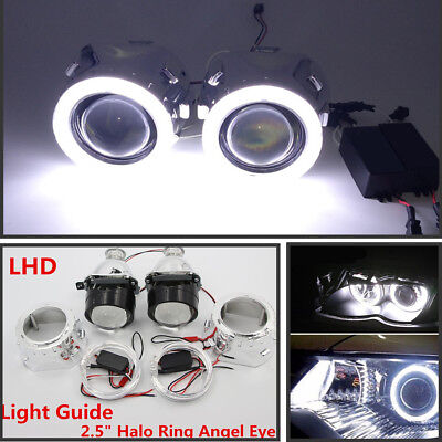 $58.80 • Buy Pairs 2.5  HID Bi-xenon Projector Lens LHD/RHD Headlight W/Light Guide &Inverter