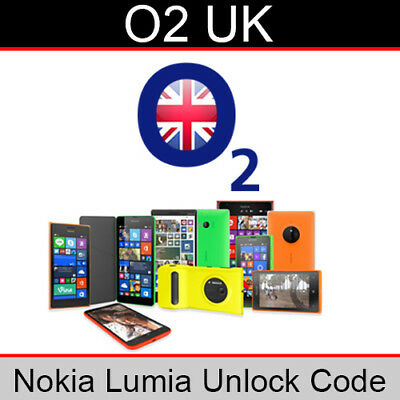 O2 UK Nokia Lumia Unlock Code • 3.95£