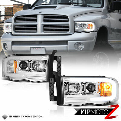 $224.18 • Buy 02-05 Dodge RAM Pickup 1500 2500 3500 LED Bar Neon DRL Tube Projector Headlight