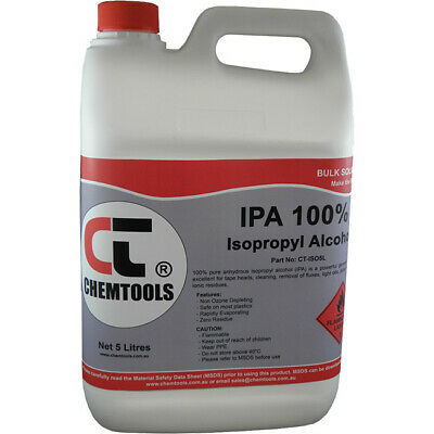 AU63.10 • Buy ISO5L CHEMTOOLS 99.8% Isopropyl Alcohol 5Litre Isopropanol / Alcohol Drum 5L Ipa
