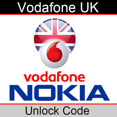 Vodafone UK Nokia Unlock Code • 3.35£