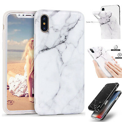 AU7.89 • Buy IPhone SE XS Max XR X 6s 7 8 Plus Case Marble Pattern Soft TPU Shockproof Cover