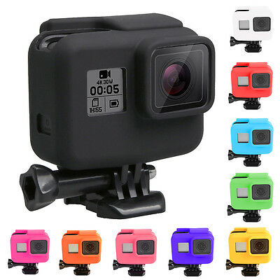 $ CDN4.23 • Buy For Gopro Hero 5 Side Frame Soft Silicone Protective Housing Case Cover