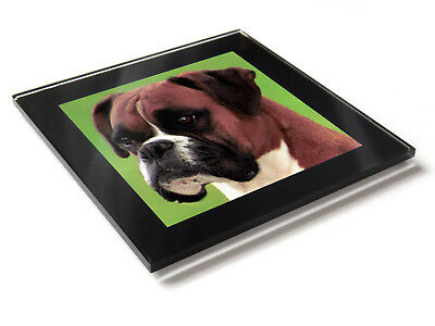 BOXER Dog Puppy Premium Glass Table Coaster With Gift Box • 7.99£